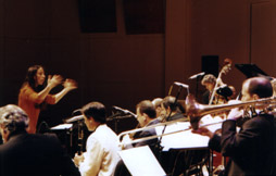 Laura Andel conducting the BMI-NY Jazz Orchestra